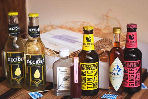 Bayerische Genussmomente in einer Cocktailsbox